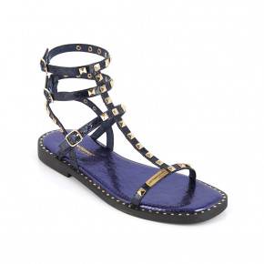 Girl's sandal with studded straps Corol navy | Les Tropeziennes