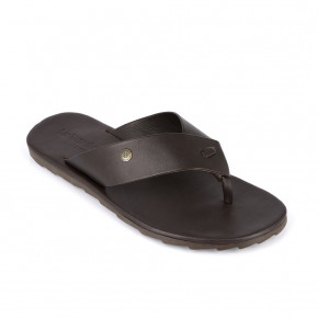Men in between finger leather sandal Daffy brown | Les Tropeziennes