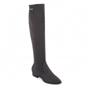 Stretch overknee boots Denise grey | Les Tropeziennes