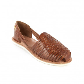 Braided leather moccasin Elodie camel | Les Tropeziennes
