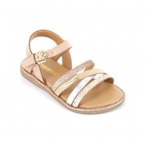 Leather Sandal Inaya nude | Les Tropeziennes