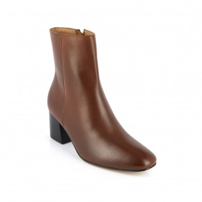Leather high heel boots Lumina brown | Les Tropeziennes
