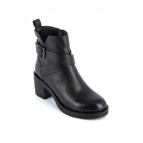 Leather high heel boots Mell black | Les Tropeziennes