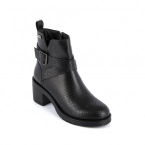 Leather high heel boots Mell black snake | Les Tropeziennes