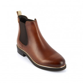 Leather Chelsea boots Micky camel | Les Tropeziennes