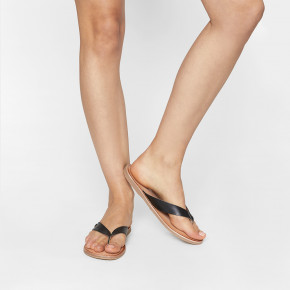 In between leather sandal Nishina black | Les Tropeziennes