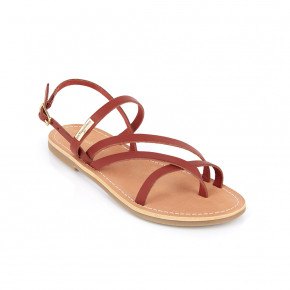Sandal with crossed straps Orus red | Les Tropeziennes
