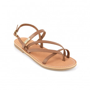 Sandal with crossed straps Orus taupe | Les Tropeziennes