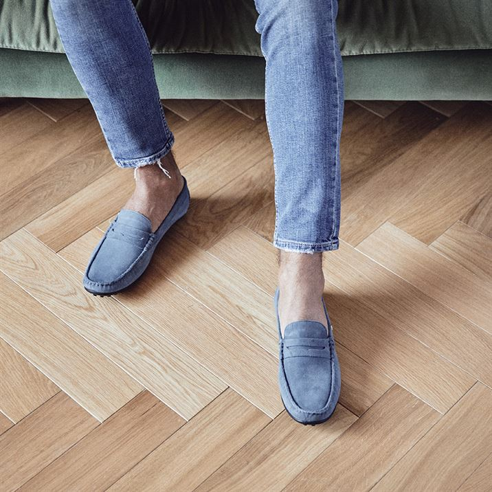 Men leather mocassin Ralph blue jean | Les Tropeziennes