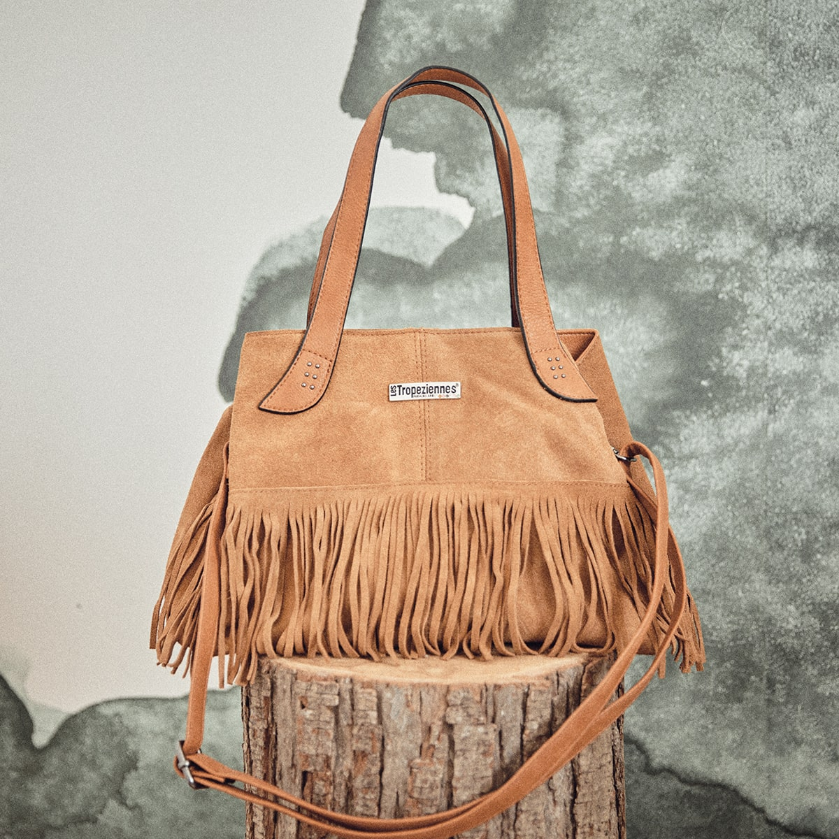 Leather handbag Voreppe camel | Les Tropeziennes