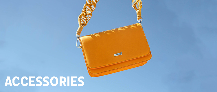 Synthetic bag with flap  Zipolite yellow | Les Tropeziennes